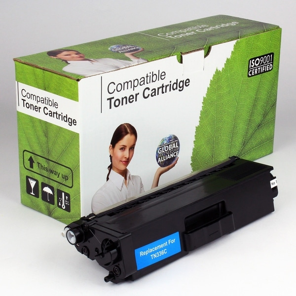 Value Brand replacement for Brother TN336C TN336 Cyan Toner (3,500 Yield)