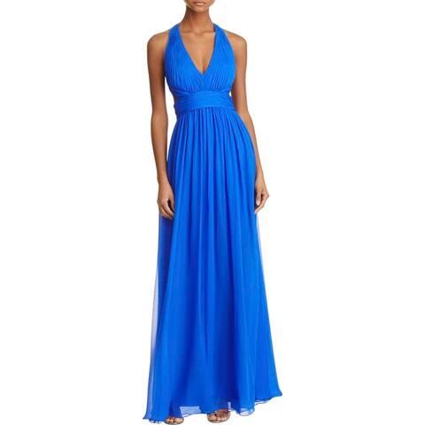 Aidan Mattox Womens Formal Dress Silk Cut-Out