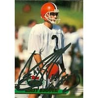 Matt Stover Autographed Football Card Cleveland Browns 1993 Tsc No