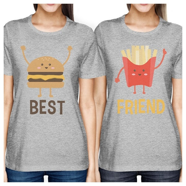 38478dbafafb Shop Hamburger And Fries BFF Matching Shirts Womens Grey Round Neck Tee -  On Sale - Free Shipping On Orders Over  45 - Overstock - 23108253