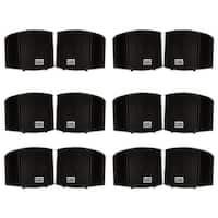 Acoustic Audio AA321B Indoor Mount Black Speakers 2400W 6 Pair Pack AA321B-6Pr