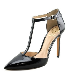 Vince Camuto Nihal Women Pointed Toe Patent Leather Black Heels