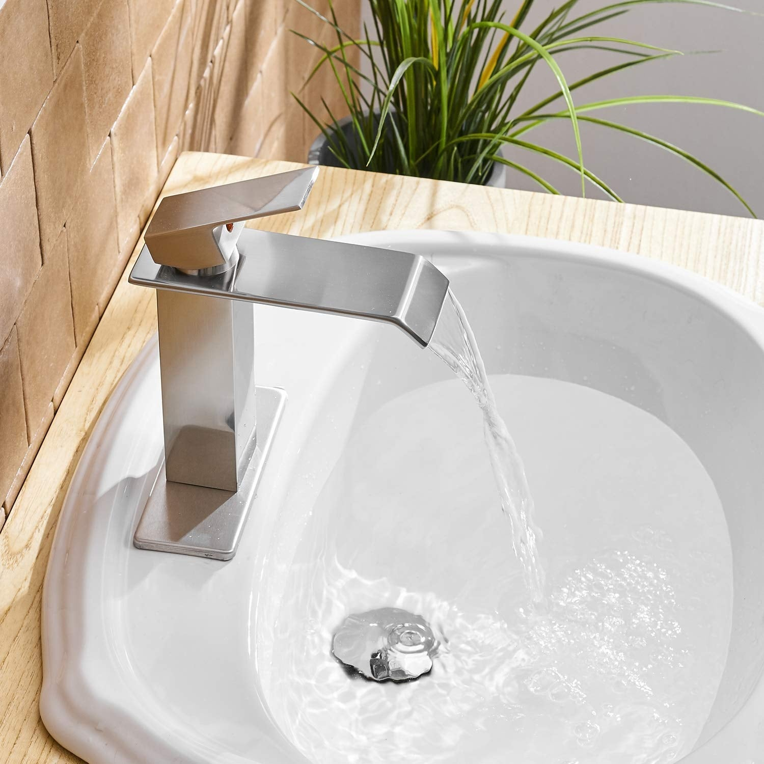 Vibrantbath Commercial Waterfall Spout Bathroom Sink Faucet Overstock 29605209