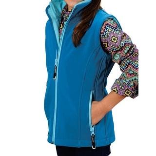 Roper Western Vest Girls Rangegear Zipper 03-298-0781-0652 BU