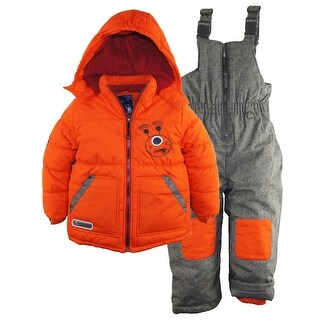 Rugged Bear Little Boys' Robot Winter 2 Piece Snowsuit Ski Bib Pant Set