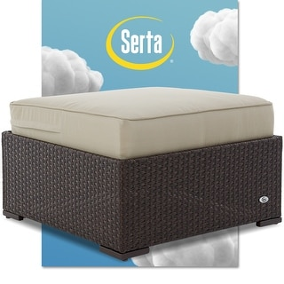 Link to Serta Laguna Outdoor Ottoman - Brown Wicker Similar Items in Outdoor Sofas, Chairs & Sectionals