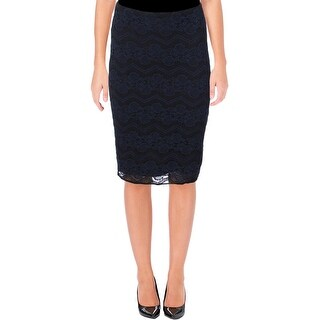 Aqua Womens Pencil Skirt Lace Zig-Zag (4 options available)
