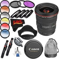 Canon EF 17-40mm f/4L USM Lens (International Model) International Version (No Warranty) Professional Accessory Combo