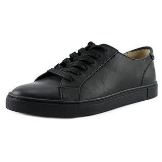 Frye Gemma Low Lace Women Round Toe Leather Black Sneakers