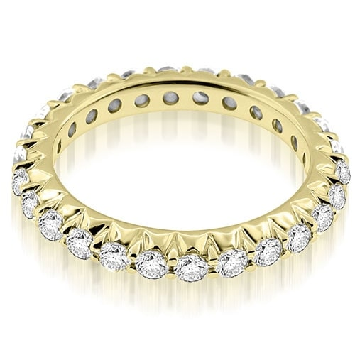 1.30 cttw. 14K Yellow Gold Stylish Round Cut Diamond Eternity Band Ring