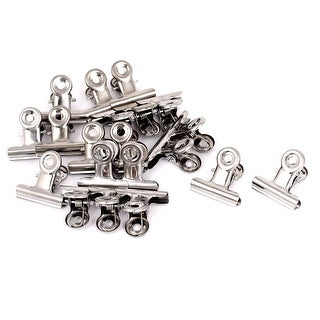 Unique Bargains Office Paper Ticket File Spring Loaded 1.2 Long Metal Binder Clips Clamps 20Pcs
