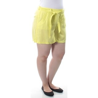 KIIND OF $59 Womens New 8827 Yellow Belted Casual Short 14 B+B