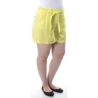 Womens Yellow Short Size 14