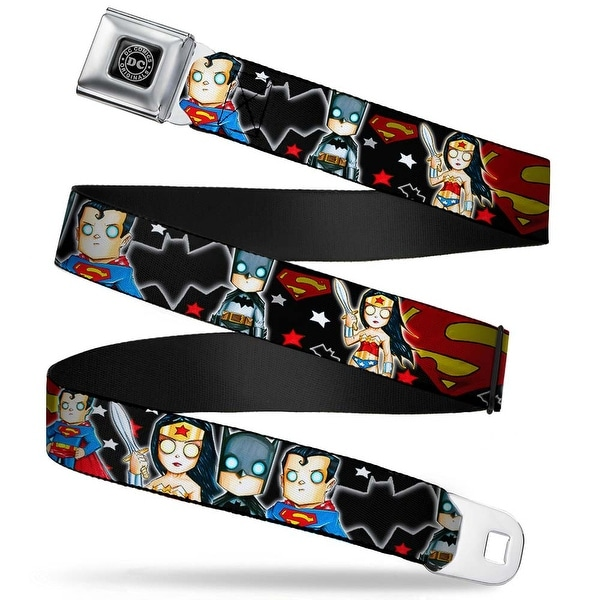 Dc Originals Black Silver Chris Uminga Justice League Wonder Woman Batman Seatbelt Belt