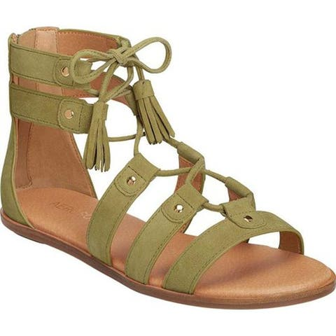 71e2382cbe5c Aerosoles Women s Lottery Strappy Sandal Mid Green Suede