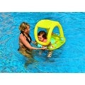"""26"""" Yellow Sea Creatures Inflatable Swimming Pool Baby Float with Sunshade - Thumbnail 0"""