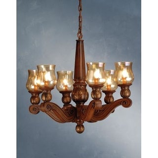 Meyda Tiffany 71471 6 Light Up Lighting Chandelier from the Kendall Collection