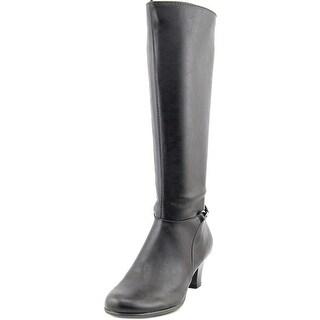 Aerosoles Margarita Women W Round Toe Synthetic Black Knee High Boot