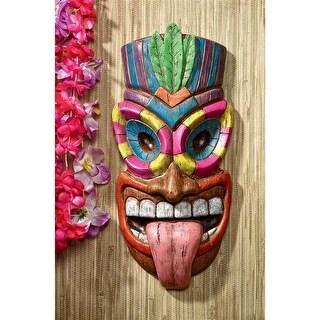 Design Toscano Maika 'l' ole, God of the Hawaiian Isle Tiki Wall Plaque