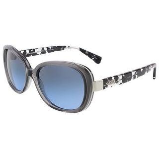 Coach HC8172 536817 Dark Grey Crystal Butterfly sunglasses