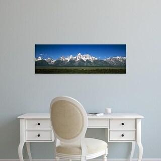 Easy Art Prints Panoramic Image 'Teton Point Turnout, Teton Range, Grand Teton National Park, Wyoming' Canvas Art