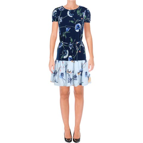 21b3cf1d6ec Ivanka Trump Womens Special Occasion Dress Short Sleeves Above Knee