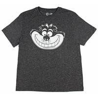 Disney Alice In Wonderland Cheshire Cat Men's Movie Character Heather T-Shirt