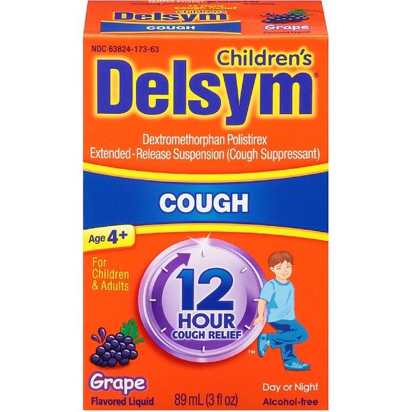 Delsym Children's 12 Hour Cough Suppressant, Grape Flavored Liquid 3 oz