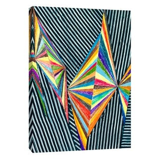 "PTM Images 9-108851  PTM Canvas Collection 10"" x 8"" - ""Lenticular J"" Giclee Abstract Art Print on Canvas"