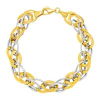 Oval Multi-Link Bracelet in 14K Gold-Bonded Sterling Silver - Two-tone