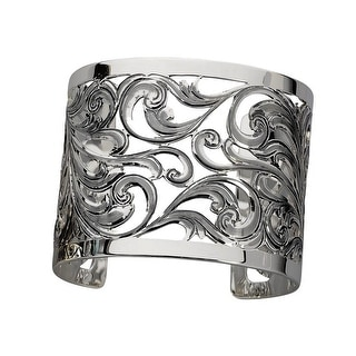 "Vogt Western Womens Bracelet Sterling Filigree Cuff 2"" Silver 014-329"