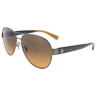 Coach HC7063 926195 Dark Silver Aviator sunglasses