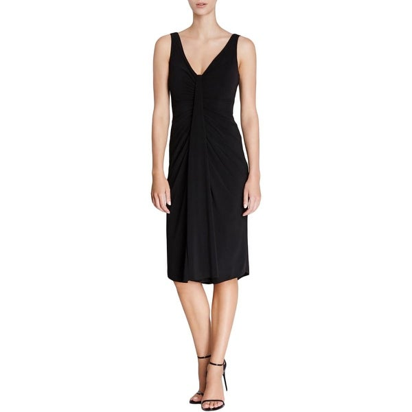 Vera Wang Womens Cocktail Dress Matte Jersey Ruched