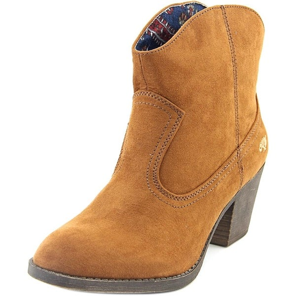 Rocket Dog Soundoff Women Round Toe Synthetic Brown Ankle Boot