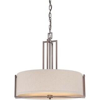 Nuvo Lighting 60/4856 Gemini Four Light Pendant with Khaki Fabric Shade