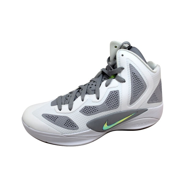 super popular 9dd0a 69608 Nike Men  x27 s Zoom Hyperfuse 2011 White Metallic Luster-Wolf Grey