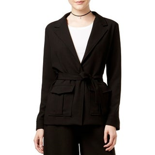 Shift Womens Juniors Blazer Open Front Utility Style - M