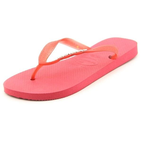 Havaianas Top Metallic Women Open Toe Synthetic Pink Flip Flop Sandal