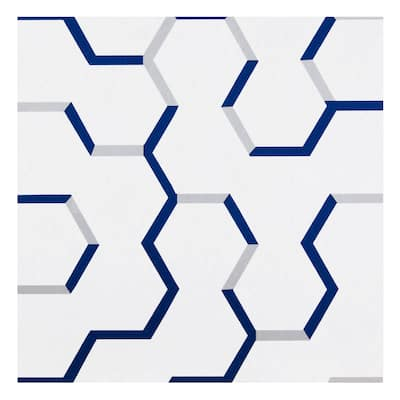 Retro Self Adhesive Vinyl Floor Tile - Geo Puzzle - 20 Tiles/20 sq ft