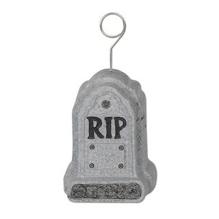 Pack of 6 RIP Tombstone Photo or Balloon Holder Party Decorations 6oz