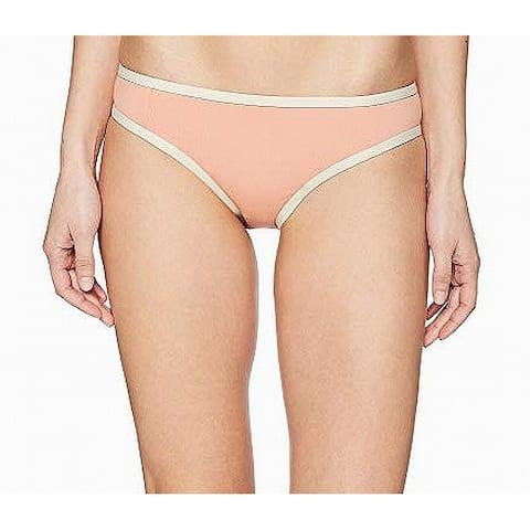 Tavik Pink Women's Size Small S Bikini Bottom Contrast-Trim Swimwear