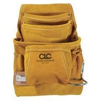CLC 533X Nail & Tool Leather Bag, 10 Pockets