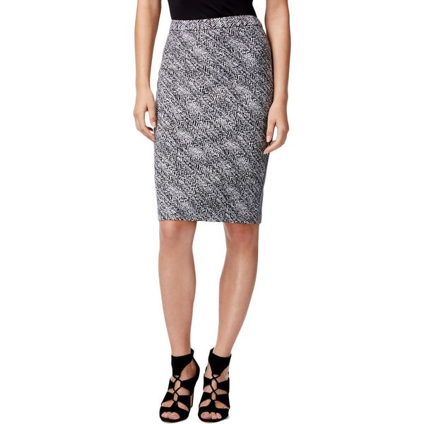 Calvin Klein Womens Pencil Skirt Printed Knee-Length