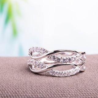 Link to Miadora Sterling Silver Cubic Zirconia Multi-row Eternity Ring Similar Items in Rings