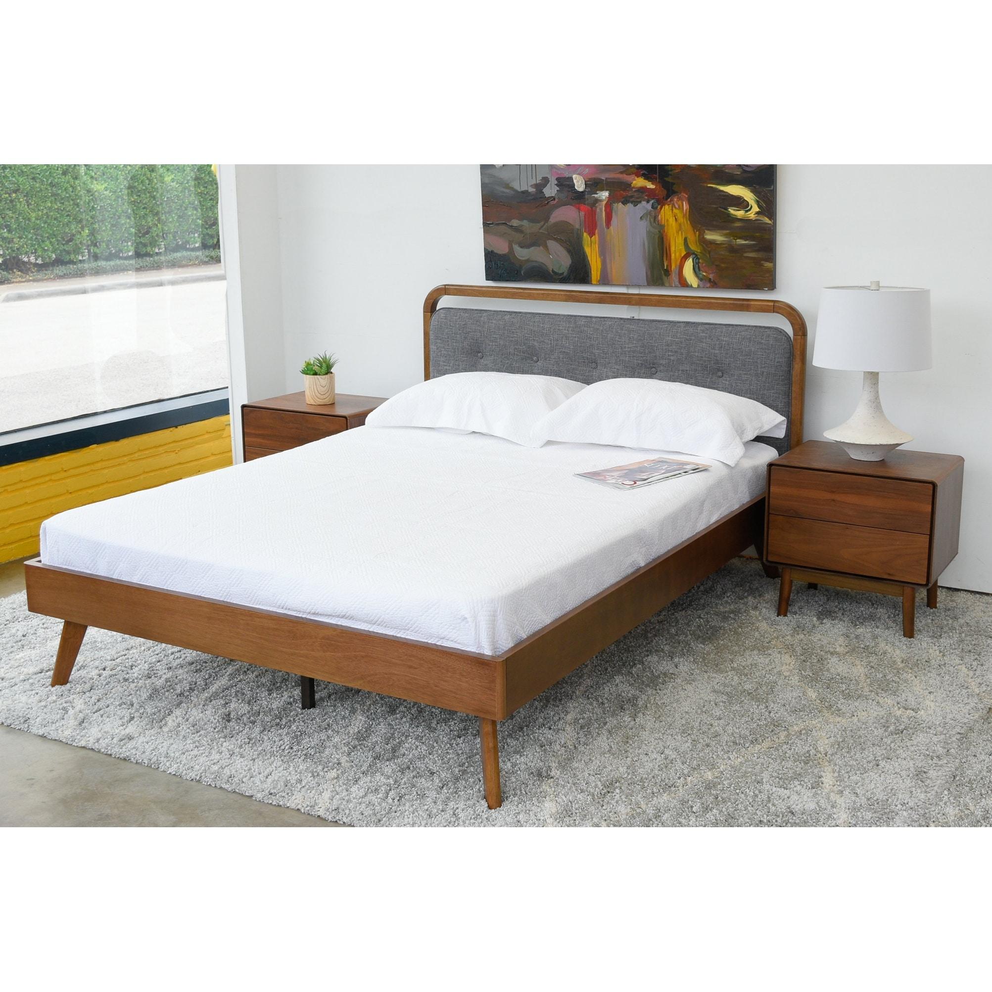 Gold Glass Dining Table, Shop Black Friday Deals On Mid Century Modern Dawson King Platform Bed Overstock 31940580