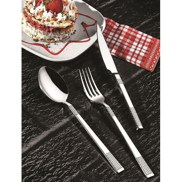 Frum 90 Piece Flatware Set, Service for 12. Opens flyout.