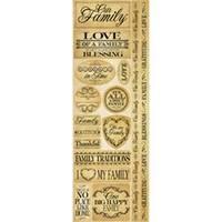 "Family - Signature Series Cardstock Combo Sticker 4.25""X12"""