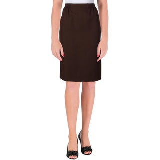 Alfred Dunner Womens Petites Pencil Skirt Stretch Pull On - 10P