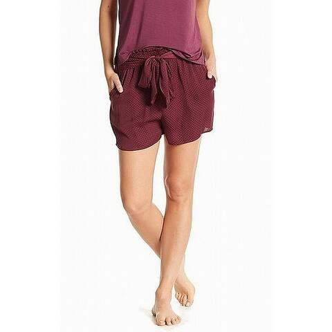 Shimera Womens Shorts Red Size Medium M Satin Tie Waist Polka Dot