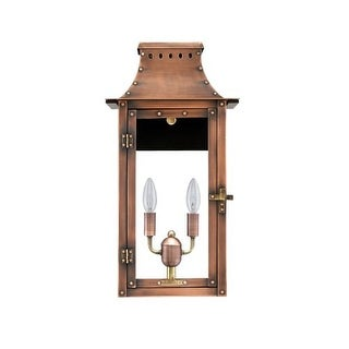 "Primo Lanterns BB-19E Breaux Bridge 13"" Wide 2 Light Outdoor Wall-Mounted Lantern in Electric Configuration"
